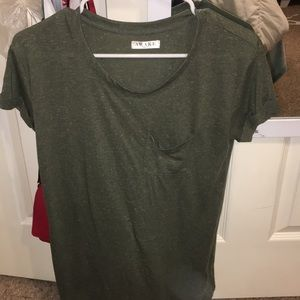 Army green women's shirt